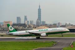 Free EVA Air Airbus A321-200 Landing Royalty Free Stock Photos - 156330128