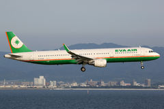 EVA Air Airbus A321 Airplane Stock Image