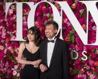Eva and David Henry Hwang at the 2018 Tony Awards Stock Photo