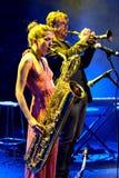Eva Fernandez Group utför på den Luz de Gas klubban Royaltyfri Foto