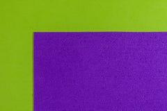 Eva foam purple on smooth apple green Royalty Free Stock Image