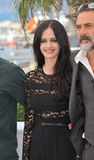 Eva Green & Jeffrey Dean Morgan. CANNES, FRANCE - MAY 17, 2014: Eva Green & Jeffrey Dean Morgan at photo call for their movie The Salvation at the 67th Festival stock photos