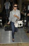 Eva Longoria à l'aéroport de LAX Image libre de droits