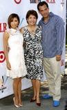 Eva Longoria, Janet Murguia y Cristian de la Fuente Foto de archivo