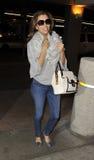 Eva Longoria at LAX airport Royalty Free Stock Image