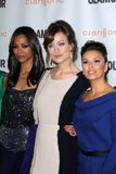 Eva Longoria,Olivia Wilde,Zoe Saldana Royalty Free Stock Photos