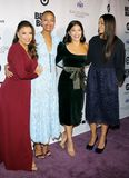 Eva Longoria, Zoe Saldana, Gina Rodriguez and Rosario Dawson royalty free stock photography