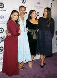 Eva Longoria, Zoe Saldana, Gina Rodriguez and Rosario Dawson royalty free stock image