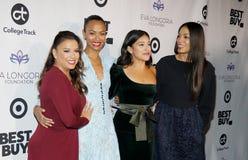 Eva Longoria, Zoe Saldana, Gina Rodriguez and Rosario Dawson royalty free stock photos