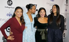 Eva Longoria, Zoe Saldana, Gina Rodriguez and Rosario Dawson stock photo