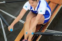 Eva Merunkova - 100a raza del rowing de Primatorky Foto de archivo