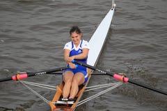 Eva Merunkova - rowing Fotografía de archivo libre de regalías