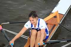 Eva Merunkova - women rowing Royalty Free Stock Photography