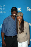 Eva Pigford,Lance Gross. Lance Gross and Eva Pigford  at the 39th Annual NAACP Image Awards Celebrity Golf Challenge. Braemar Country Club, Tarazana, CA. 02-12 Royalty Free Stock Image