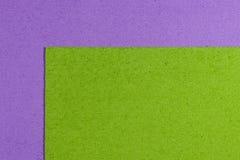 Eva-Schaum apfelgrün auf hellpurpurnem Lizenzfreies Stockbild