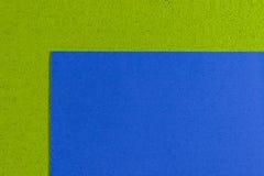 Eva-Schaumblau auf apfelgrünem Lizenzfreies Stockbild
