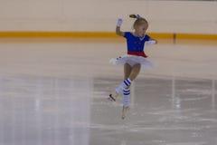 Eva Vilt de Rússia executa o programa de patinagem livre das meninas de prata da classe II Imagem de Stock Royalty Free