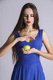 Eva woman with temptation apple Stock Photography