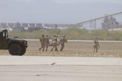 Evacuação marinha da unidade dos EUA fotos de stock
