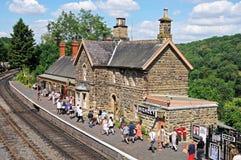 Evacuados da segunda guerra mundial, estação de trem de Highley Imagem de Stock
