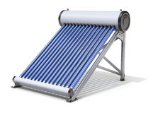 Evacuated tube solar water heater Stock Images