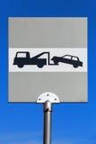 evacuatie Verkeersteken boven blauwe hemel Royalty-vrije Stock Afbeeldingen