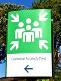 Evacuation assembly point Stock Photos