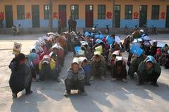 Evacuation exercises Royalty Free Stock Photo