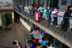Evacuation exercises Royalty Free Stock Image
