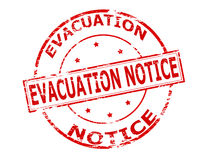 Evacuation notice Royalty Free Stock Photography