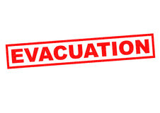 EVACUATION. Red Rubber Stamp over a white background royalty free illustration