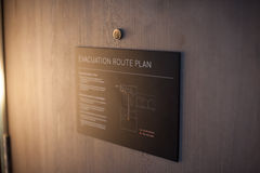 Evacuation route plan Stock Photography