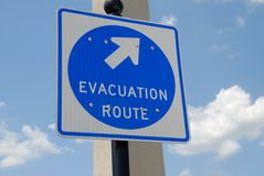 Evacuation route sigh Stock Image