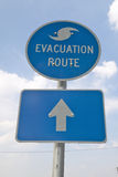Evacuation Route sign Stock Image