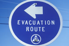 Evacuation Route sign Stock Photos
