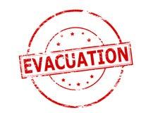 Evacuation. Rubber stamp with word evacuation inside,  illustration Royalty Free Stock Image