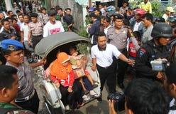 Evacuation suspected terrorist family Stock Photography