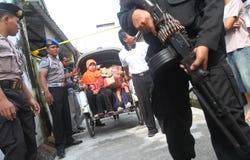 Evacuation suspected terrorist family Stock Photo
