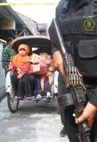 Evacuation suspected terrorist family Stock Image