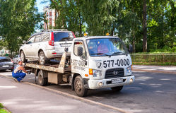 Evacuation vehicle for traffic violations Stock Image