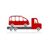 Evacuator with car for your design Stock Photography