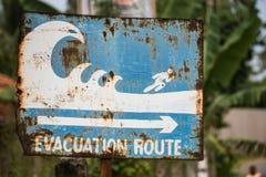 Evakueringsrutttecken Fotografering för Bildbyråer