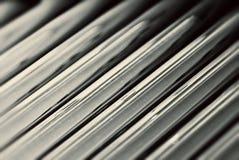 Evakuierte Glasgefäße vom Solarwarmwasserbereiter Stockfoto