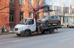 Evakuierungsfahrzeug für Verkehrsverletzungen Lizenzfreie Stockbilder