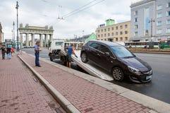 Evakuierungsfahrzeug für Verkehrsverletzungen Stockfotografie