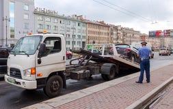 Evakuierungsfahrzeug für Verkehrsverletzungen Lizenzfreie Stockfotos