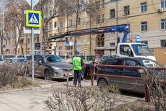 Evakuierungsfahrzeug für Verkehrsverletzungen Lizenzfreie Stockfotografie