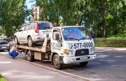 Evakuierungsfahrzeug für Verkehrsverletzungen Stockbild