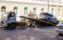 Evakuierungsfahrzeug für Verkehrsverletzungen Lizenzfreies Stockbild