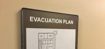 Evakuierungsplan für Haus oder Büro Lizenzfreies Stockfoto